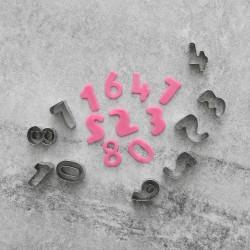 Siffror 0-9 Utstickare 10st   Rostfritt Stål  Brun