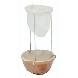 Silduk med hållare, Rostfritt Stål - Home Made, Kitchen Craft Vit