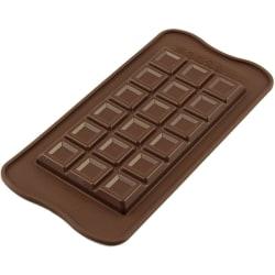 Silikomart Stor Chokladkaka Chocolate Mould Classic Choco Bar Brun