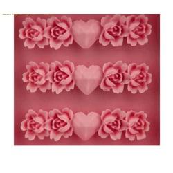 Silikonform Ros Rosor Blomma Pressform Kant Gjutform Pink