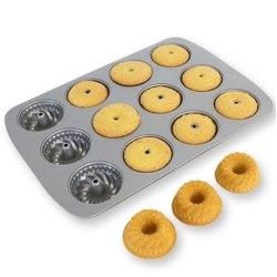 Sockerkaksplåt Mini 12 st, Mini Fancy Ring Pan - PME Brun