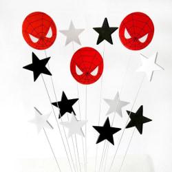Stjärnor Spiderman Caketopper multifärg