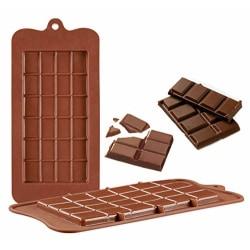 Stor Chokladkaka Silikonform Chokladform  Brun
