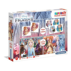 Superkit Frozen 2 (2x30+Memo+Domino) multifärg