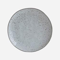 Tårtfat, Assiett Rustic, Grå/Blå Stengods 20,5cm - House Doctor Grey
