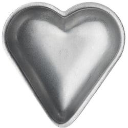 Tartlet tin heart set of 6 grå