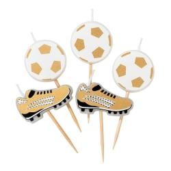 Tårtljus Fotboll - Football Feast Guld