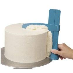 Tårtutjämnare Tårtskrapa Degskrapa Frosting Tårtdekorering Spack Varm vit