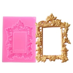 Tavla Spegel Spegel Silikonform Rosa