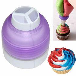 Tre Färger Color Swirl Tyllkoppling multifärg