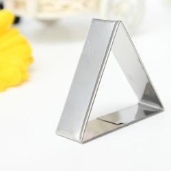 Triangelformad Utstickare Mousseform Kakform Rostfritt Stål  Silver
