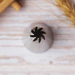 Tyll Stjärna Curved Drop Flower Silver