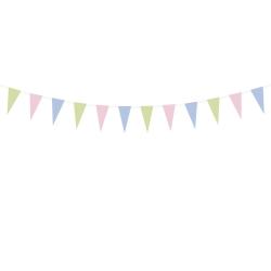 Vimpel Girlang Vimpelspel Backdrop - Pastel multifärg