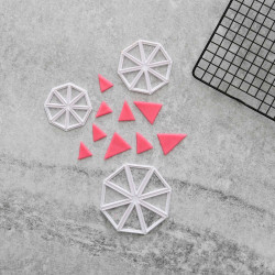 Vimplar Utstickare 3-pack   Trianglar multifärg