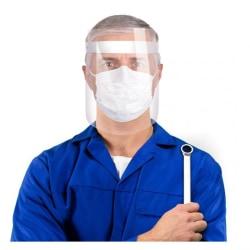 Visir - Ansiktsskydd i Plast- Skydd för Ansikte & Mun Vit