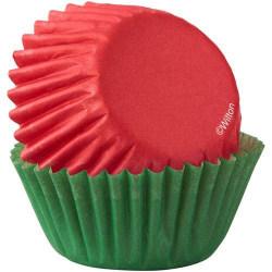 Wilton Mini Muffinsformar Jul Röda & Gröna 100st Rosa