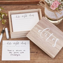 Wooden Date Suggestion Box - Ginger Ray Vit