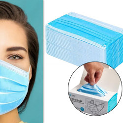 50-pack CE-godkänd Munskydd/Ansiktsmask med 3 lager