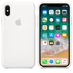 Apple iPhone XS Max Original silikonskal i Vit färg