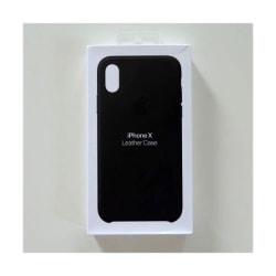 Apple läderskal till iPhone X i Svart färg