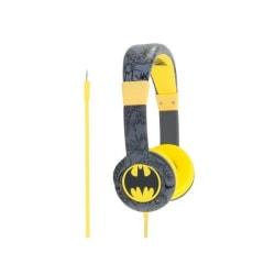 BATMAN Hörlur Junior On-Ear 85dB Svart/Gul