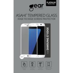 """GEAR Härdat Glas Asahi 5.1"""" Samsung S7 Edge Full Fit Vit"""