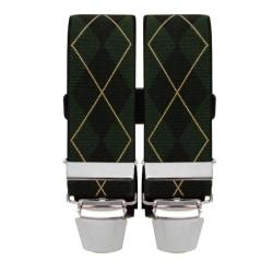Grön/svart hängsle i rutigt mönster