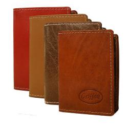 Korthållare i äkta läder (brun, konjak, röd, beige) Brun