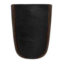Svart/brun nyckelfodral i äkta läder