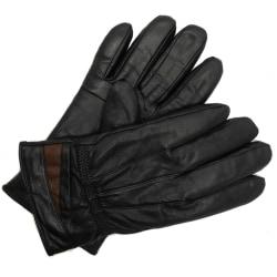 Svart herrhandske i äkta läder M