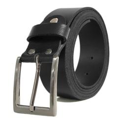 Svart läderbälte XXL Black 145 CM (midjemått)