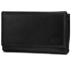 Svart plånbok i kalvskinn