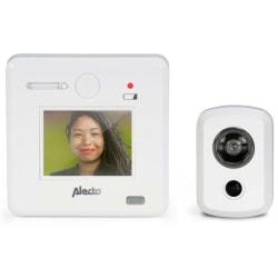 """Alecto Digital titthålskamera med 2,4"""" display DC-700 vit"""