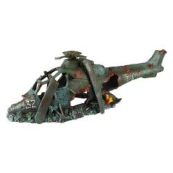 Aqua d'ella Akvariedekoration helikopter 19x8x10,5cm polyresin Grön