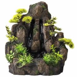 Aqua d'ella Akvarium Vattenfall Forrest Rock 2 vägar Small 234/4 Brun