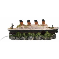 Aqua d'ella Shipwreck Titanic med luftsten 39x11x17 cm 234/23760 Flerfärgsdesign