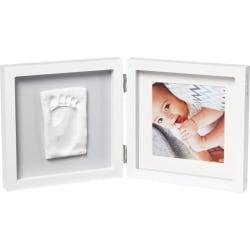 Baby Art Enkelram för foto och avtryck My Baby Style vit och grå Flerfärgsdesign