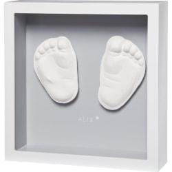 Baby Art Ram med avtryck My Little Steps vit och grå Flerfärgsdesign