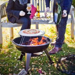BBGRILL Pizzagrill för utomhusbruk 56x61cm Svart
