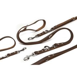 Beeztees Hundkoppel läder brunt 200x1,8 cm 736402 Brun