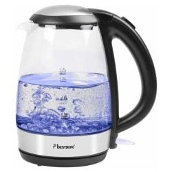 Bestron Digital vattenkokare AWK780G blå 2200 W 1,7 L glas Transparent