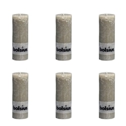 Bolsius Blockljus 190x68 mm skiffergrå 6-pack Grå