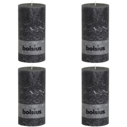 Bolsius Blockljus 200x100 mm antracit 4-pack Brun