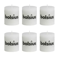 Bolsius Blockljus 80x68 mm 6-pack vit Vit