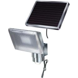 Brennenstuhl Solcellsdriven LED Säkerhetslampa med Rörelsedetekt Silver