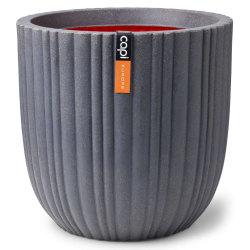 Capi Blomkruka Urban Tube rund 54x52 cm mörkgrå Grå