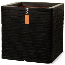Capi Fyrkantig odlingslåda Nature Row 40 x 40 cm svart KBLRO903 Svart