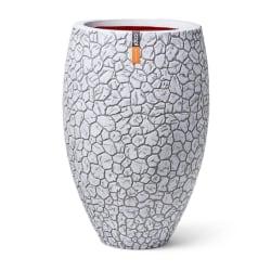 Capi Vas Elegant Deluxe Clay 50 x 72 cm elfenbensvit Vit