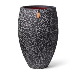Capi Vas Elegant Deluxe Clay 50 x 72 cm grå Svart
