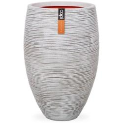 Capi Vas Nature Rib elegant Deluxe 40x60 cm elfenben KOFI1131 Vit